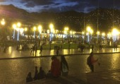 Cuzco - Plaza de Armas de Cuzco by night (Traveltinerary)