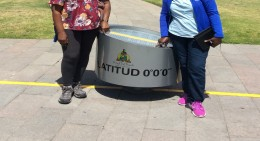 Quito, Ecuador - Check out our GPS location at Mitad del Mundo (Traveltinerary)