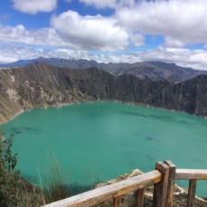 Quilotoa, Ecuador - View of the lagoon from the top (Traveltinerary)