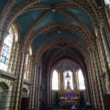 Quito, Ecuador - Smaller Chapel in the Basilica. Look at the design (Traveltinerary)