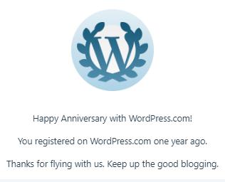1st Blog Anniversary